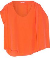 Halston Layered Silk Top