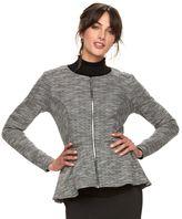 Elle Women's ELLETM Peplum Tweed Blazer
