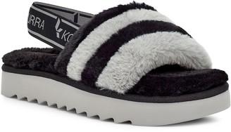 Koolaburra by UGG Fuzz'n Women's Faux-Fur Slipper Sandals