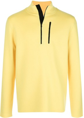 Aztech Mountain Zip Detail High Neck Sweater