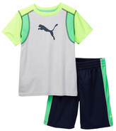 Puma Graphic Tee & Short Set (Little Boys)