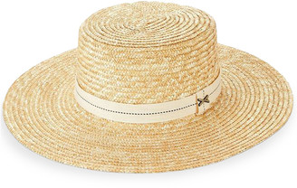 Vitamin A Je T'aime French Boater Hat