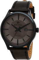 Rip Curl Agent Leather Watch Black