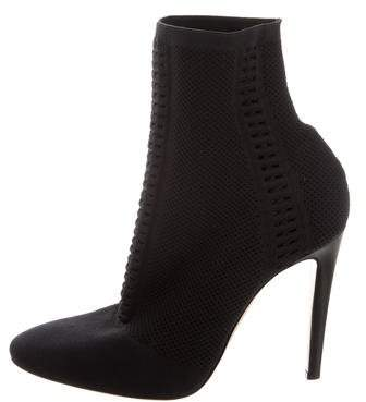 Gianvito Rossi Knit Ankle Boots