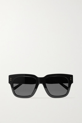 Linda Farrow Seymour D-frame Acetate Sunglasses - Black
