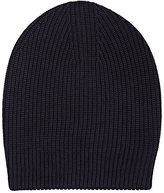 Barneys New York WOMEN'S SHAKER-STITCHED SLOUCHY HAT-NAVY
