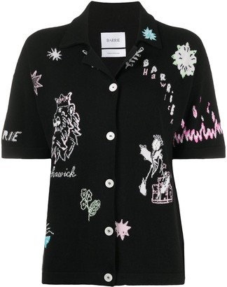Barrie Symbols embroidered knit shirt