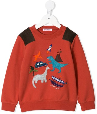 Familiar Dinosaur Patch Sweatshirt