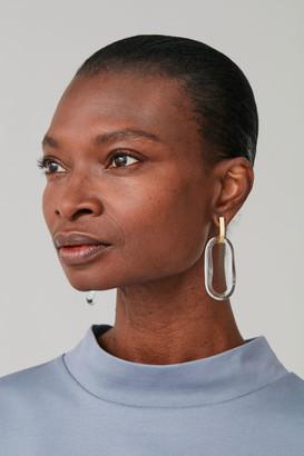 Cos Recycled Glass Drop Hoop Earrings