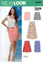 New Look 6053 Size A 8/10/12/14/16/18 Misses Skirts Easy 2 Hour Sewing Pattern, Multi-Colour