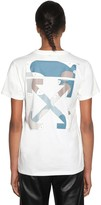 Off-White Off White Logo Print Cotton Jersey T-shirt