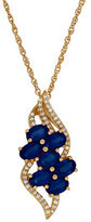 Lord & Taylor Sapphire, Diamond & 14K Gold Pendant Necklace
