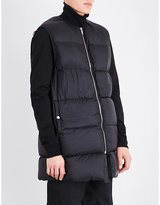 Rick Owens Oversized Quilted Down And Feather-blend Gilet