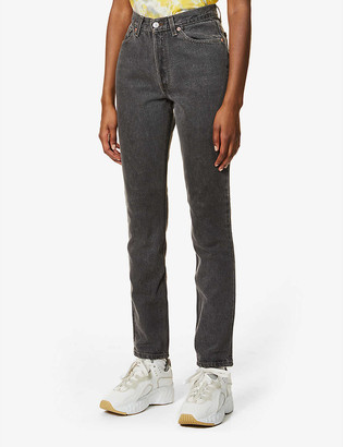 Levi's Pre-Loved Levis Authorised Vintage 501 straight-leg mid-rise jeans