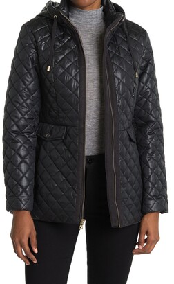 Kate Spade Quilted Zip Front Hooded Jacket