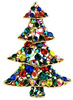 Butler & Wilson Butler and Wilson Multi Crystal Christmas Tree Brooch
