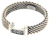 Tiffany & Co. 925 Sterling Silver & Diamond Somerest Mesh Ring Size 5.0