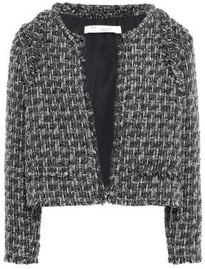 IRO Disco Frayed Metallic Boucle-tweed Jacket