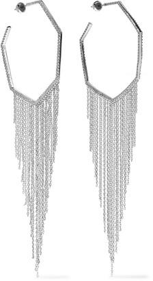 Noir Rhodium-plated Crystal Hoop Earrings