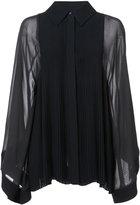 Chloé pleated bib blouse