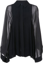 Chloé pleated bib blouse