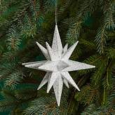 Bloomingdale's White Glitter Star Ornament - 100% Exclusive