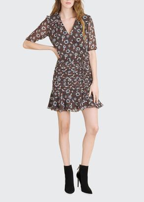 Veronica Beard Anjali Floral-Print Short Dress