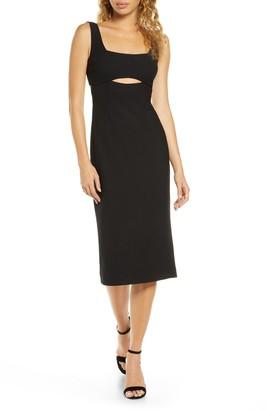 Finders Keepers Nadia Cutout Midi Dress