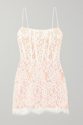 Rasario Lace And Tulle Mini Dress - White