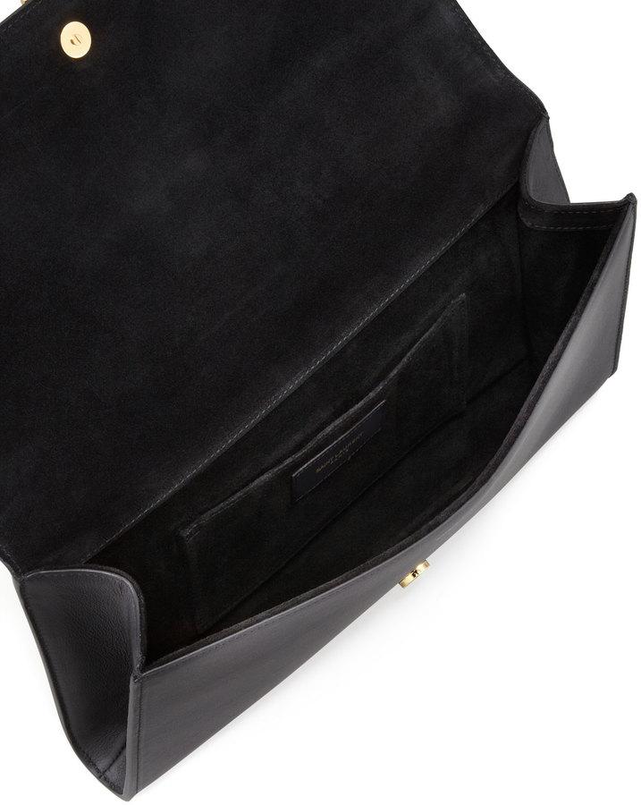 Saint Laurent Y Ligne Clutch Bag, Black