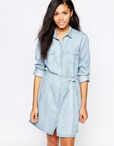 B.young Belted Shirt Dress
