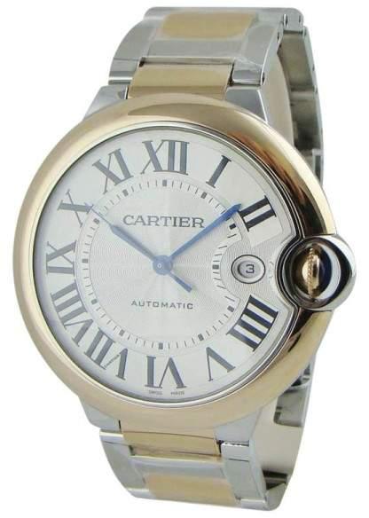 Cartier Ballon Bleu De W2BB0004 Stainless Steel & 18K Rose Gold Automatic 42mm Mens Watch