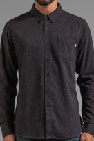 Obey Last Call Flannel Button Down with Speckles