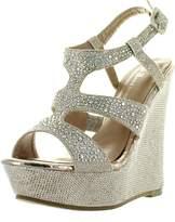 Static Footwear Anne Marie Womens Kendra1 Open Toe High Heel Wedge Platform Sandal Shoes