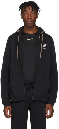 Alyx Black Nike Edition Double Hood Zip Hoodie
