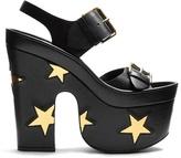 Stella McCartney Star faux-leather slingback platform sandals