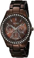 XOXO Women's Rhinestone Accent Chocolate Analog Watch XO5458
