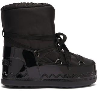 Bogner Trois Vallees Lace-up Faux Fur-lined Snow Boots - Black