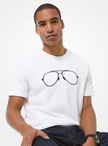Michael Kors Aviator Print Cotton Jersey T-Shirt