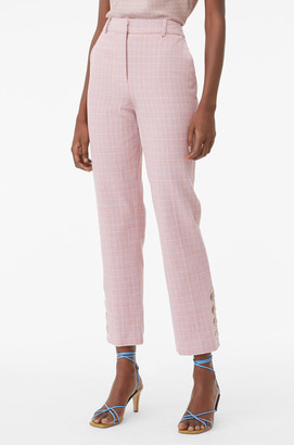 Rebecca Taylor Tailored Rose Plaid Suiting Pant