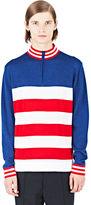 Emiliano Rinaldi Men's Usa Riding Polo Shirt In White, Red And Blue