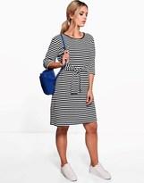 boohoo Plus 3/4 Sleeve Tie Waist Midi Dress
