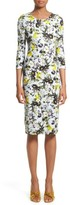 Erdem Women's Floral Jersey Sheath Dress
