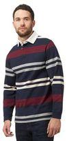 Maine New England Navy Long Sleeve Stripe Polo Shirt