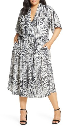 Rachel Roy Animal Print Wrap Dress