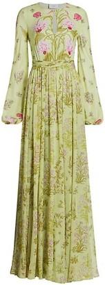 Giambattista Valli Floral Silk Maxi Dress