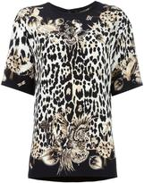 Roberto Cavalli leopard print T-shirt - women - Silk/Viscose - 46