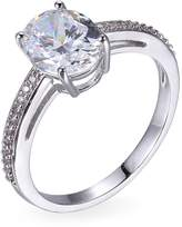 Reign PAJ Rhodium-Plated Sterling Silver Micropave Crystal Ring