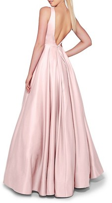 Mac Duggal Pleated Empire Gown
