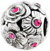 Swarovski Prerogatives Sterling Pink Crystal Flower Bead